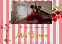 Invitacion Mis Quince/Sweet Sixteen/ Ballet Event Carte postale template