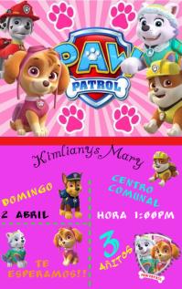 Invitacion Paw Patrol