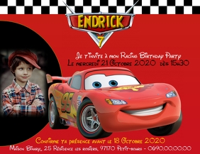 Invitation Cars 2 Volante (Carta US) template