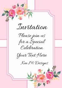 Invitation birthday, wedding baby shower card
