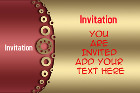 Invitation card for party, birthday, events; wedding