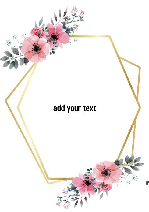 invitation A4 template