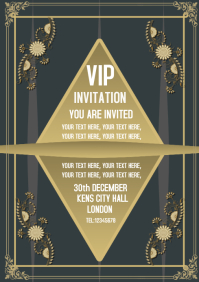Invitation flyer A4 template