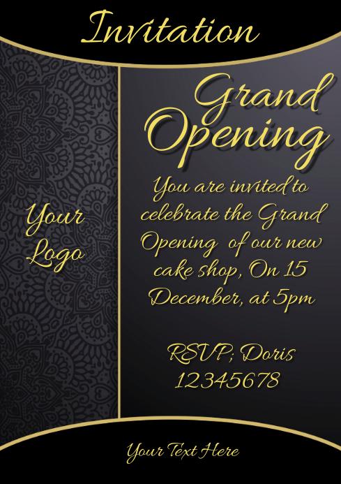 invitation grand opening restaurant menu card template