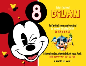 80 Mickey Mouse Customizable Design Templates Postermywall