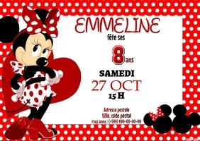 Invitation Minnie A6 template