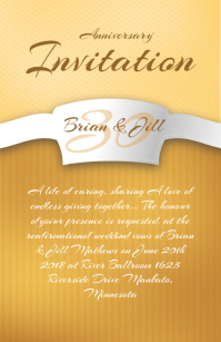 Invitation Template Demi-page de format Wide