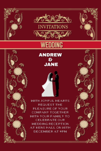 invitation wedding anniversary card
