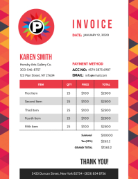 Invoice Flyer (US Letter) template