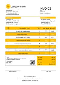 Invoice Receipt template 8 A4