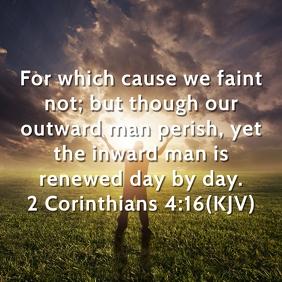 Inward Man Renewed