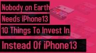 iPhone 13 pro max Thumbnail sa YouTube template