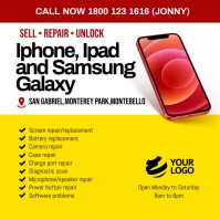 iPhone Ipad Samsung Repair Сообщение Instagram template