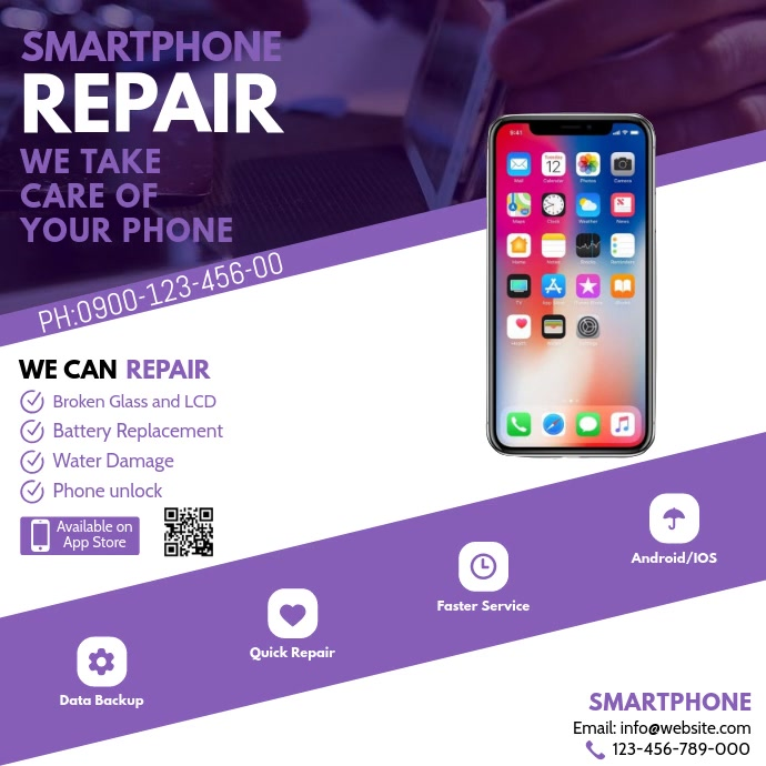 iphone Repair โพสต์บน Instagram template