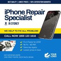 iPhone repair services instagram template