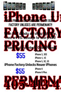 IPHONE UNLOCKS