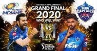 IPL Grand Final 2020 Poster Template auf Facebook geteiltes Bild