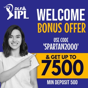 IPL Welcome Bonus Offer Template Instagram Post