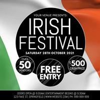 Irish Festival Poster template