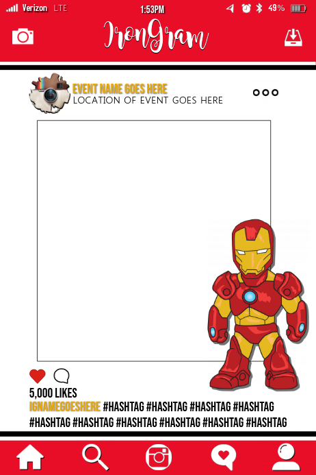 Iron Man Party Prop Frame Template Postermywall