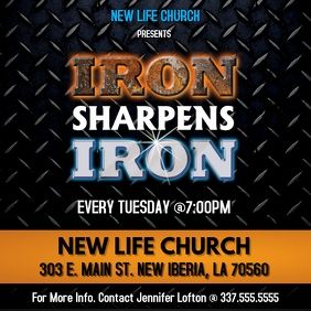 IRON SHARPENS IRON CHURCH FLYER