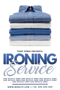 Ironing Service Poster template