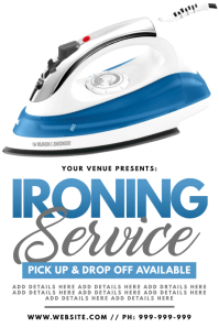 Ironing Service Poster