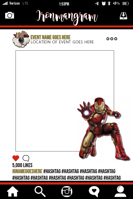 Ironman Party Prop Frame Template Postermywall