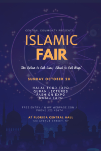 Islamic Fair Flyer Template Poster