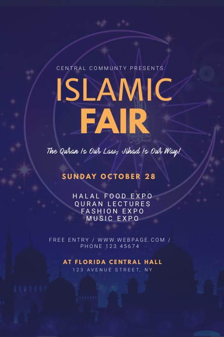 Islamic Fair Flyer Template Plakkaat
