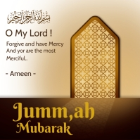 Islamic jumma mubarak Instagram Post template