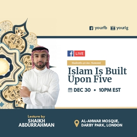 Islamic lecture Facebook Instagram template