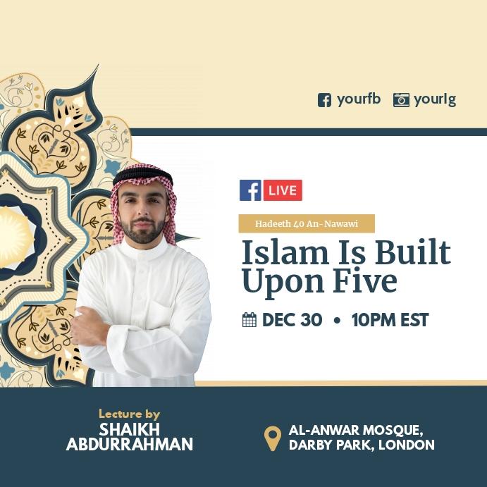 Islamic lecture Facebook Instagram Iphosti le-Instagram template
