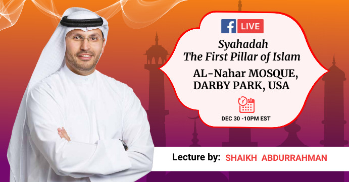 Islamic lecture Facebook Live social media co template