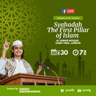 Islamic lecture Facebook Live Template Pos Instagram