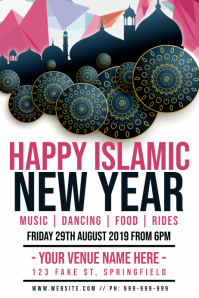Islamic New Year Poster