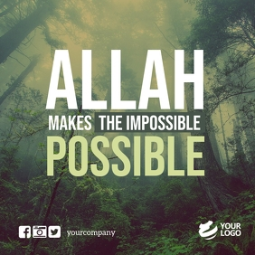 Islamic Quotes Instagram Facebook template