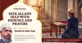 Islamic Sermon Invitation Facebook Post template