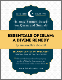 Islamic Sermon Invitation Flyer