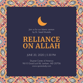 Islamic Sermon Invitation Instagram Image