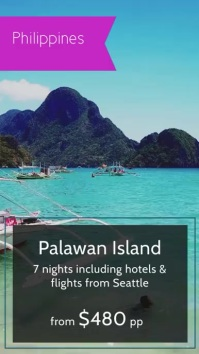 Island Destination Holiday Advertisement