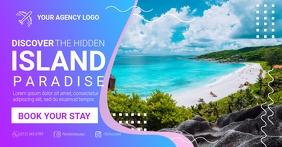 Island Paradise Travel delt Facebook-billede template