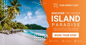 Island Paradise Travel Social Media Facebook Shared Image template