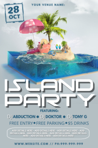 Island Party Poster Plakat template