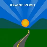 Island road and Mountains and the sun. Обложка альбома template