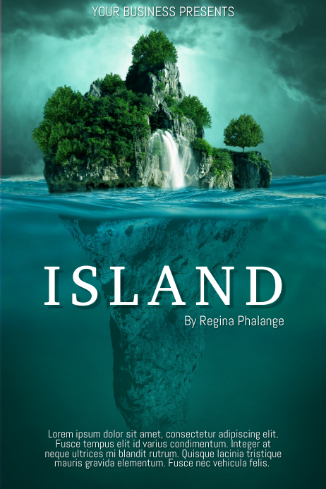 Island Travel Book Cover Movie Film Template