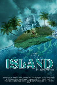 Island vacation Book Cover Movie Film Template