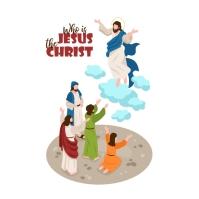 IsometriB Bible narrative with Jesus Christ Квадрат (1 : 1) template