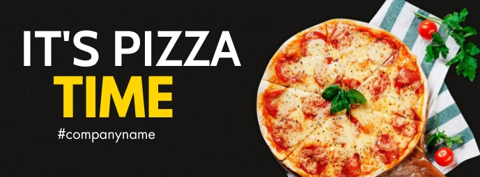 it's pizza time facebook cover advertisement template