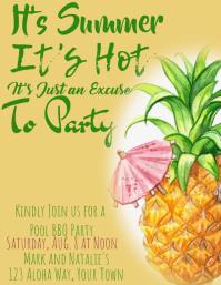 It's Summer, It's Hot Pineapple Invitation